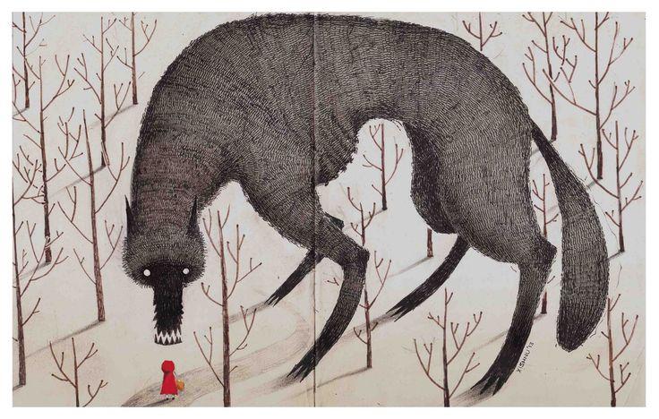 littlechien:  littlechien via fawn-lorn eatsleepdraw:  The woods.http://xishnu.tumblr.com/post/49949431214/red-riding-hood