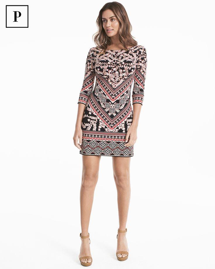Petite Mixed Print Shift Dress