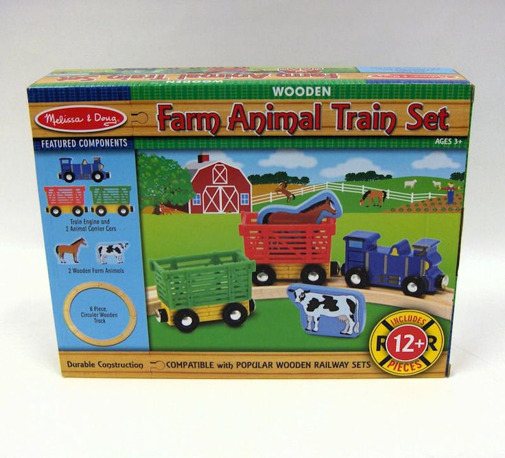 Animal Train Set : Best images about melissa doug shure wood toys on