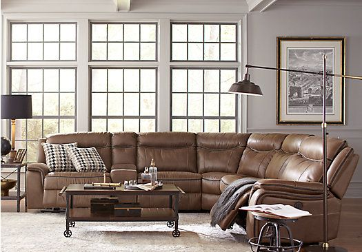 cindy crawford living room furniture picture of home barton springs brown 6 pc 22425