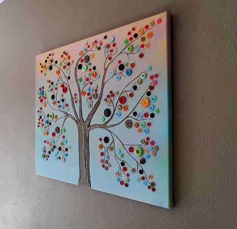...by cieszyć się życiem: Guzikowe drzewo czyli kolorowa jesień :)