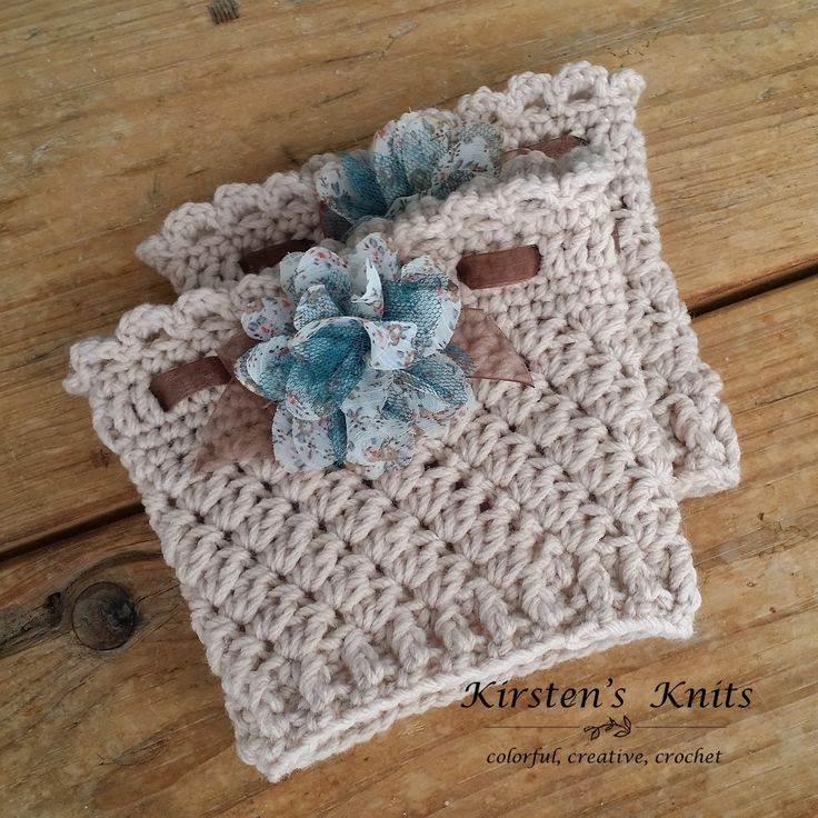 Feminine, lacy, and elegant, with a touch of country thrown in, these boot cuffs are simple to make, but oh so cute!  They work up quickly,...
