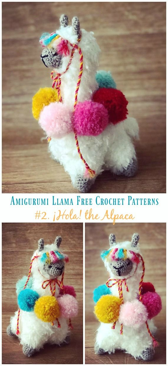 Amiugrumi Alpaca Toy Crochet Free Patterns - Amigurumi Llama | 1240x570