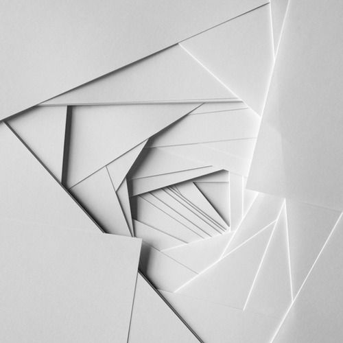 paper white spiral geometric artwork http://www.teastudio.co.uk/ graphic design paper Origami white