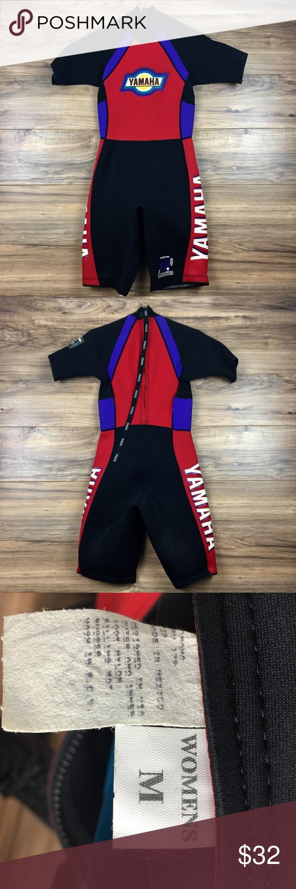 Yamaha Sports Wetsuit This is an awesome yamaha sports wetsuit with a vintage graphic and color way style. Excellent Condition all around no rips or stains Swim