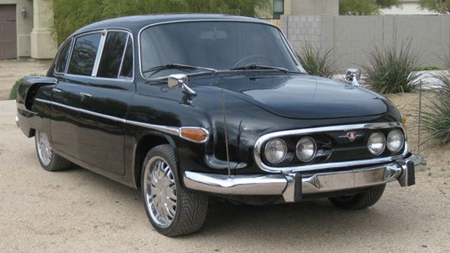 """1972 Tatra T603 - Jokingly nicknamed """"the communist Porsche"""", the T603 was produced in Czechoslovakia from 1956 until 1975 as a high quality luxury vehicle. T603s were generally reserved for high ranking Politicians and leaders of industry. Accordingly not many T603s were made."""