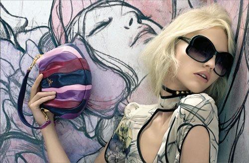 .: Style, Prada Spring, Steven Meisel, Bag, James D'Arcy, Fashion Illustration, James Jean, Sasha Pivovarova, Photo