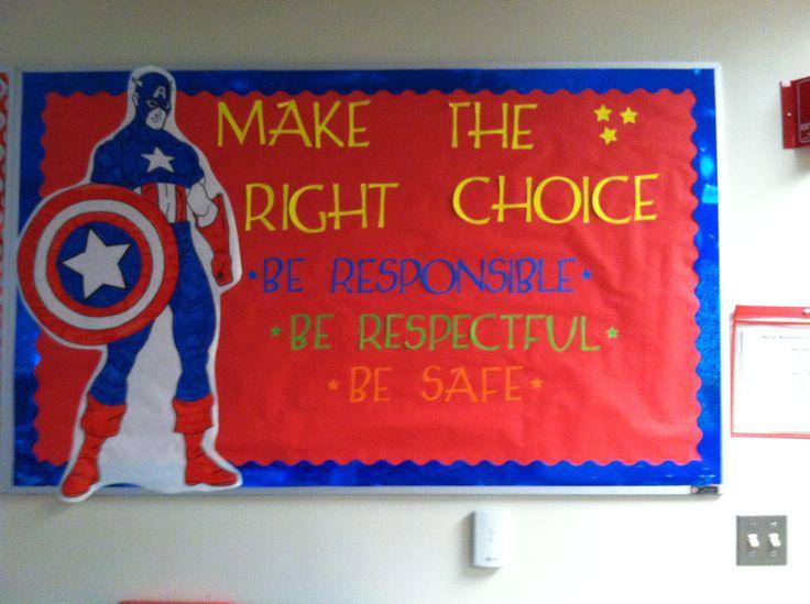Captain America Bulletin Board From Roy Elementary School
