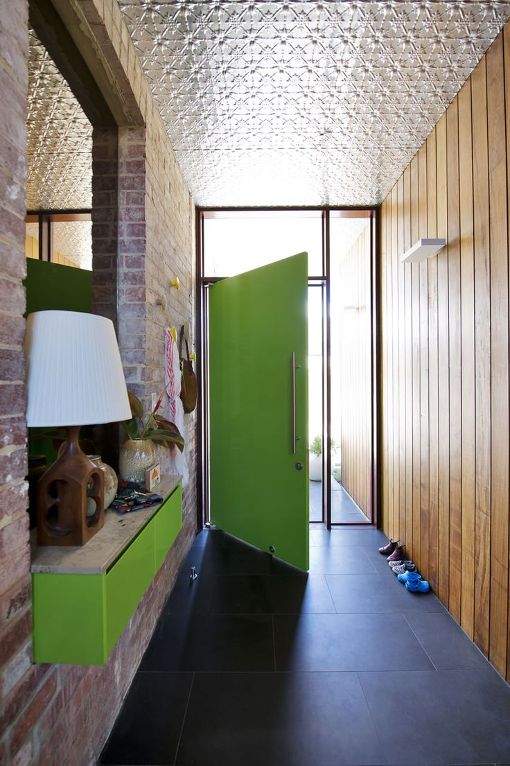 House design entrance - Klopper Davis Architects