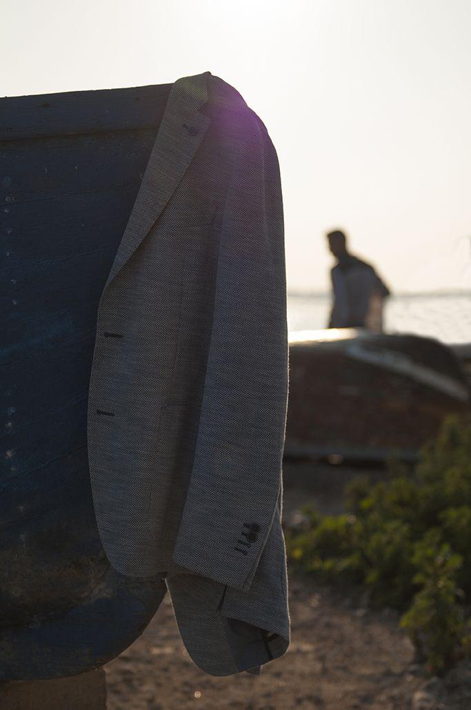 Soft jacket in fine fabric wool and silk #AngeloNardelli #menswear #madeinitaly #sales