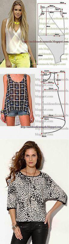 блузки moldesedicasmoda.blogspot.com