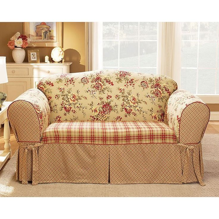 Plaid And Toile Google Search Slipcovers Pinterest