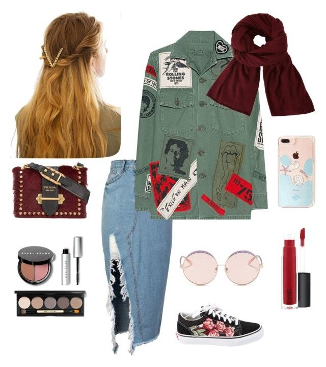 """Ladies Hangout Outfit"" by creative-esprecielo on Polyvore featuring storets, MadeWorn, N°21, Vans, Prada, WithChic, John Lewis and Bobbi Brown Cosmetics"