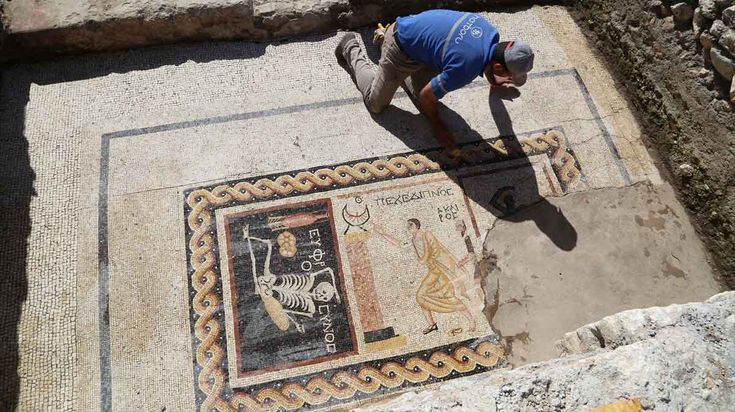 2,400 year-old mosaic found in southern Turkey says 'be cheerful, enjoy your life'