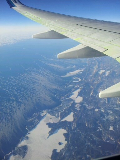 On a plane to calgary