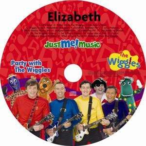 Personalized Wiggles CD where your child parties with the Wiggles. $19.95, via Etsy.