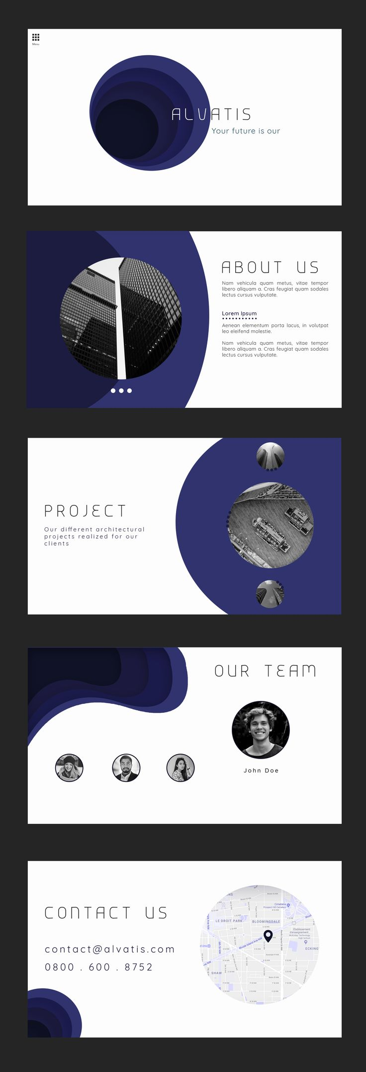 Portfolio. Template website. #slider