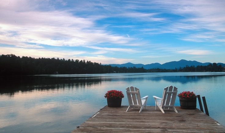 The dock at Mirror Lake Inn at Lake Placid, which was a home away from home for me while growing up