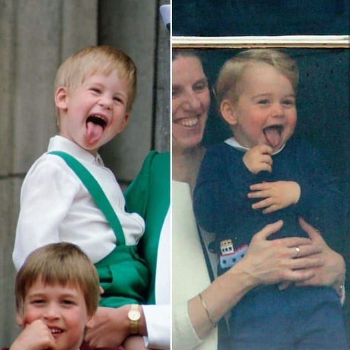 2019 archie s silly family royals of europe sussex then a young prince harry sticking out his tongue now cous prince george prince harry young prince prince george prince harry young prince