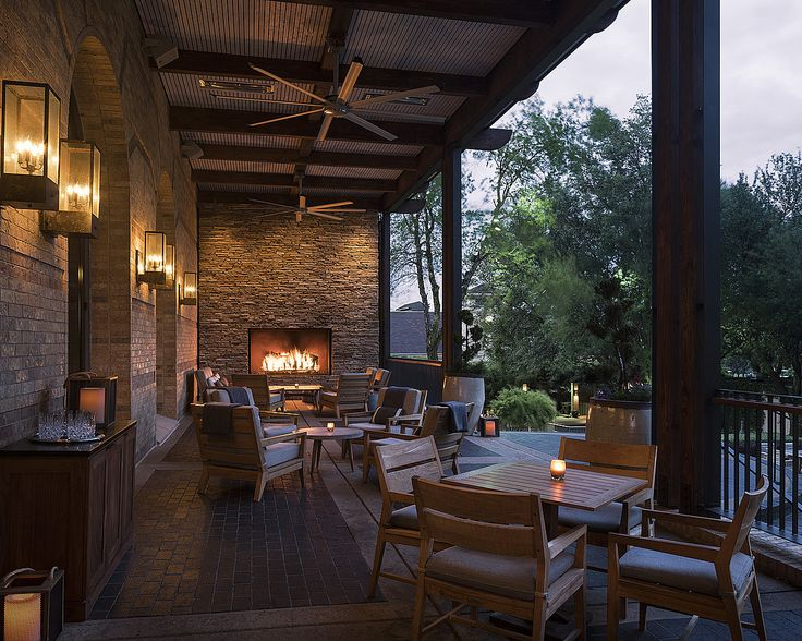 Larger Than Life Rustic Fireplace On The Patio Of OUTLAW Taproom At Four  Seasons Dallas.