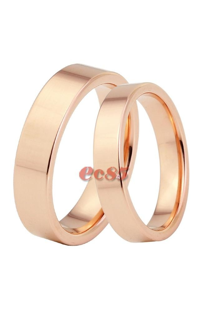 Contracted plane ring rose gold ring couple ring fashion jewelry