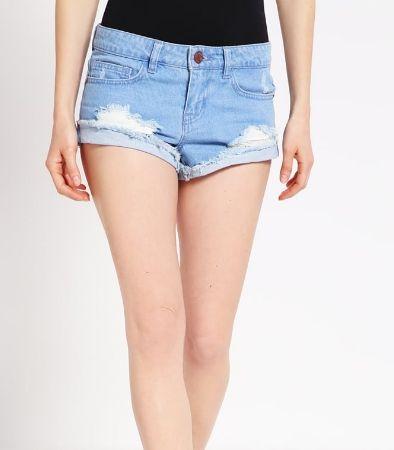 Noisy May Petite NMFRAN Szorty jeansowe light blue denim