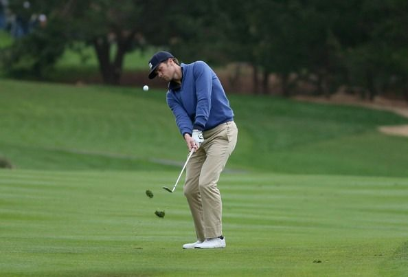 Brady at the AT&T Pro-Am tourney at Pebble Beach