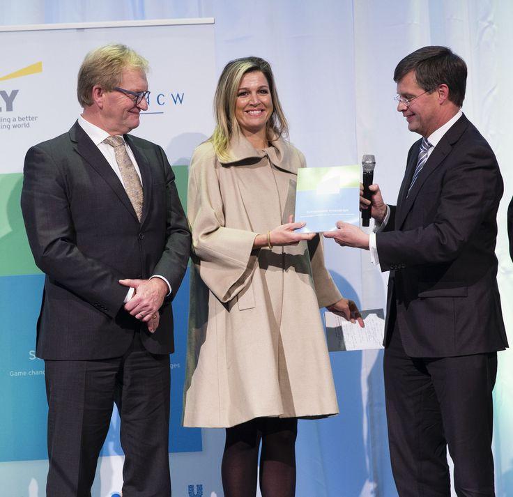 La Reine Máxima a assisté à un séminaire sur la croissance durable néerlandaise (DSGC) à Amsterdam.