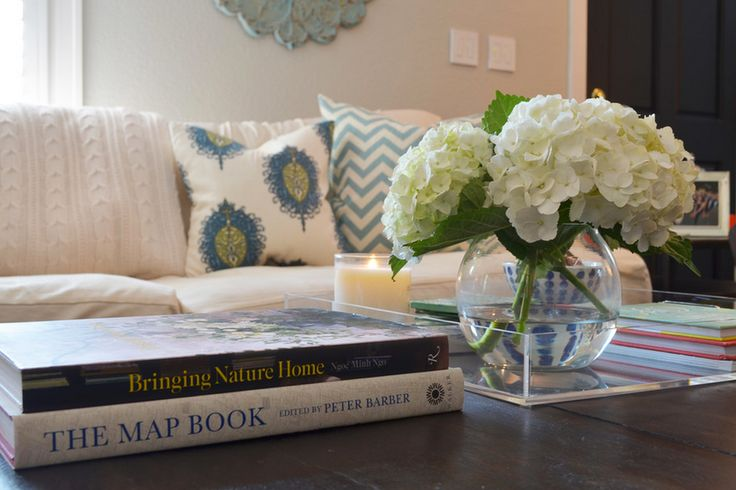 Coffee table styling detail