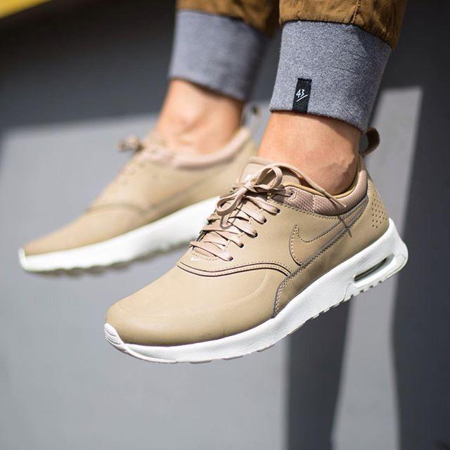 NIKE WMNS AIR MAX THEA PREMIUM - BEIGE   Sneaker obsessed!   Nike ...