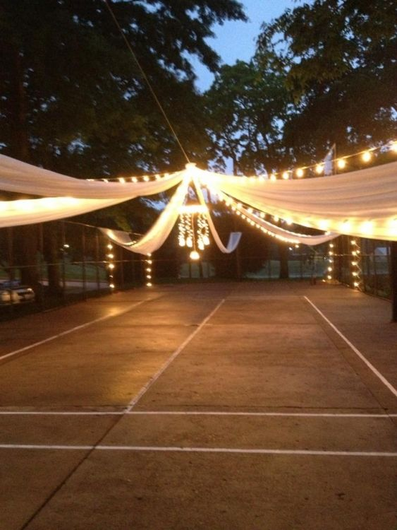 Outdoor wedding TBLighting.com  #Lighting #Weddings