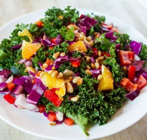 Salade van boerenkool