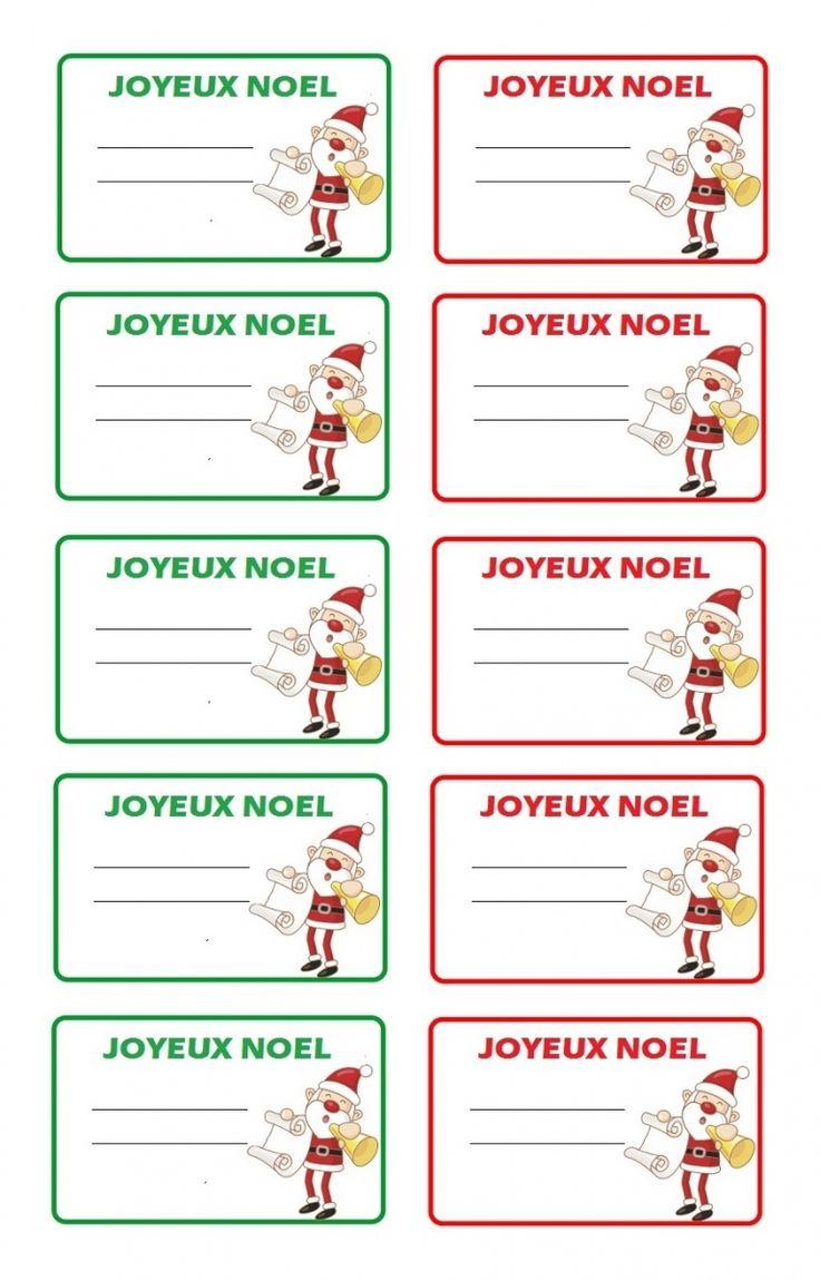 Imprimer étiquettes Noël pour cadeaux de Noël