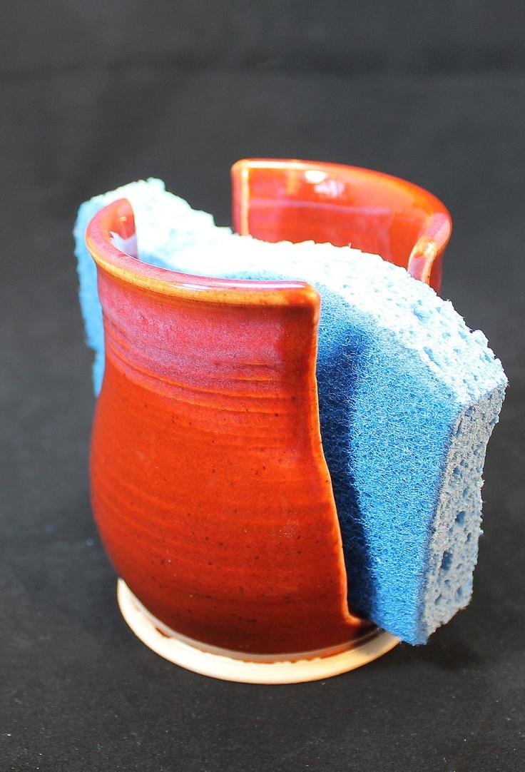 Handmade Pottery Ceramic Sponge Holder. $15.00, via Etsy.