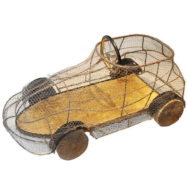 Children car, France XXe, metallic mesh and wood | From a unique collection of antique and modern decorative objects at http://www.1stdibs.com/furniture/more-furniture-collectibles/decorative-objects/
