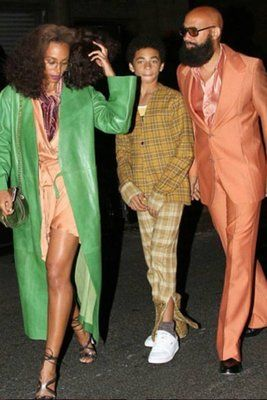 Beyonce's Soul Train Bash with her sister Solange, nephew and brother Alan Ferguson attending above..  - The Fashion at Beyonce's 35th Soul Train Birthday Bash Was Epic