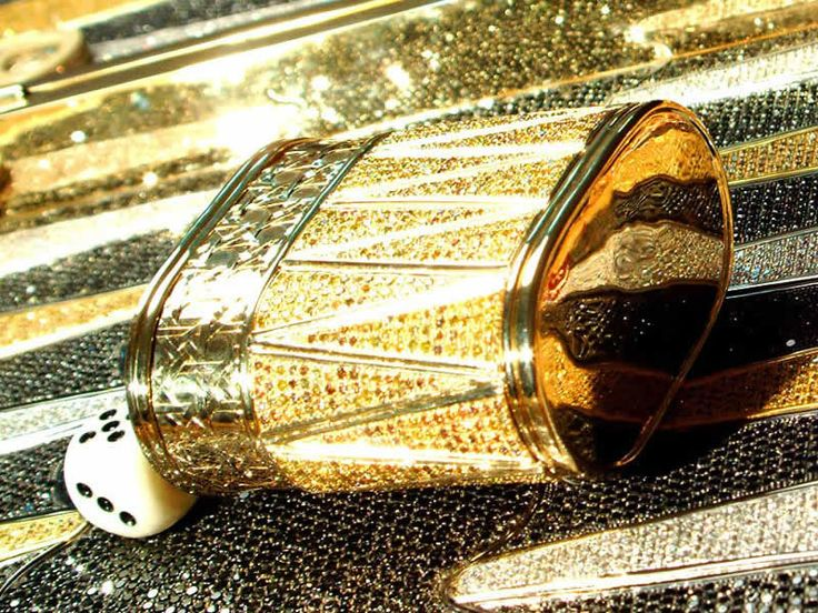 Pure gold, black, white and yellow diamonds... - This amazing piece of art, is a ridiculously expensive backgammon board designed by Bernard Maquin.  online backgammon  on.fb.me/1869cF3