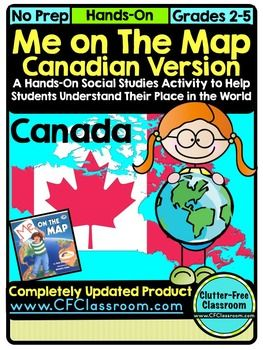Map Of Canada Grade 2.Me On The Map Canada A Social Studies Language Arts Project