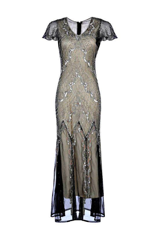 Mirinda Embellished Flapper Dress 1920s Great Gatsby by Jywal