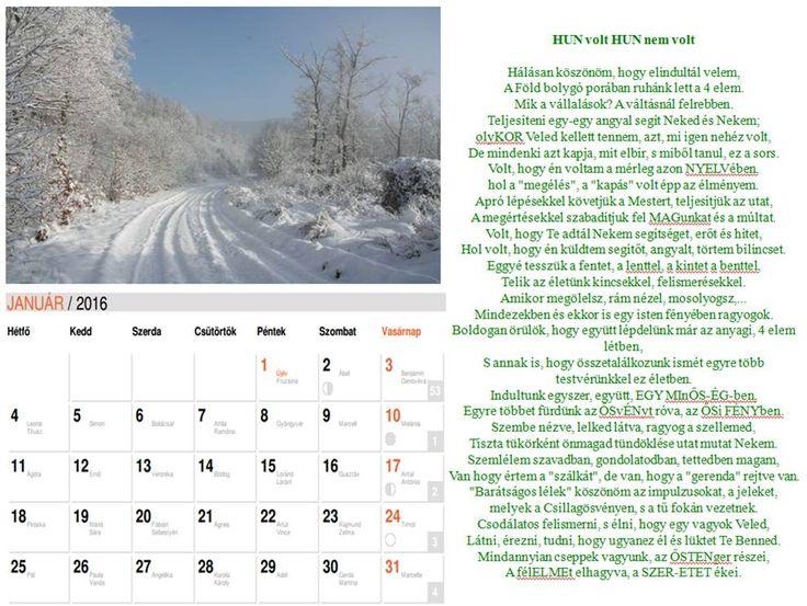 NAPtár második oldal  Saját verseimből szerkesztett NAPtár a 216-os évre sok SZERetettel. :)