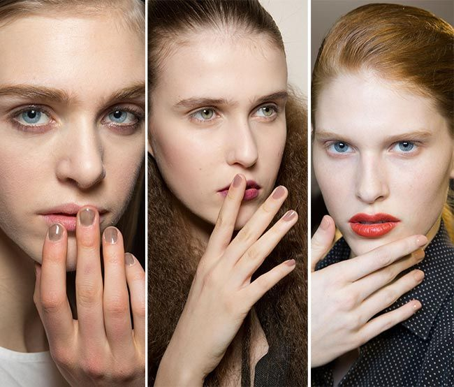 Neutral Palettes Once Again Fall/ Winter 2015-2016 Nail Trends: Neutral Nude Nails