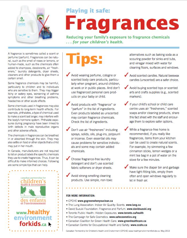 23 best Scent-Free Kids images on Pinterest After pregnancy - free fact sheet