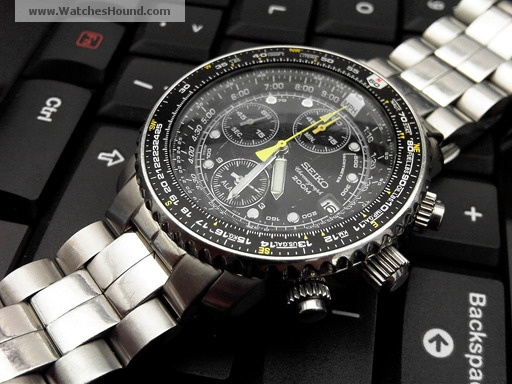 computer flight aviateur watches automatic chronograph hacheraviateurblackwhitem watch hacher proddetail