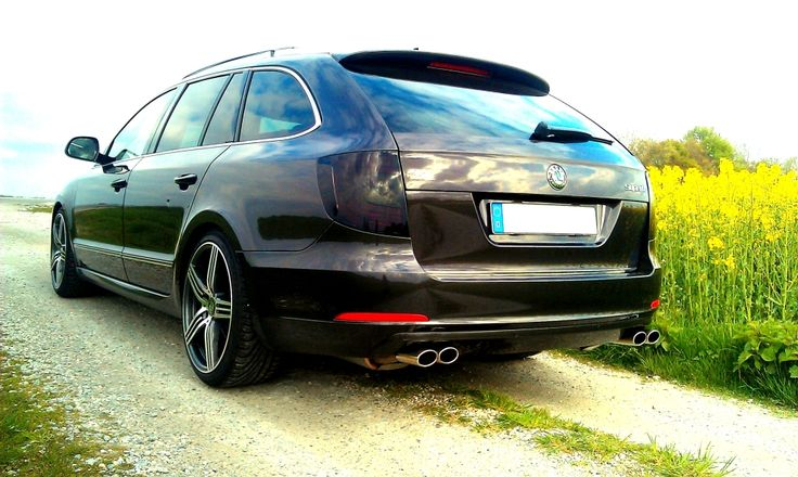"My Skoda Superb 2.0 TDI with black rearlights, Duplex exhaust of NAP and ""Skoda…"