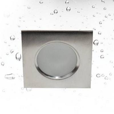 Inbouwspot waterdicht vierkant inox 85mm breed GU10