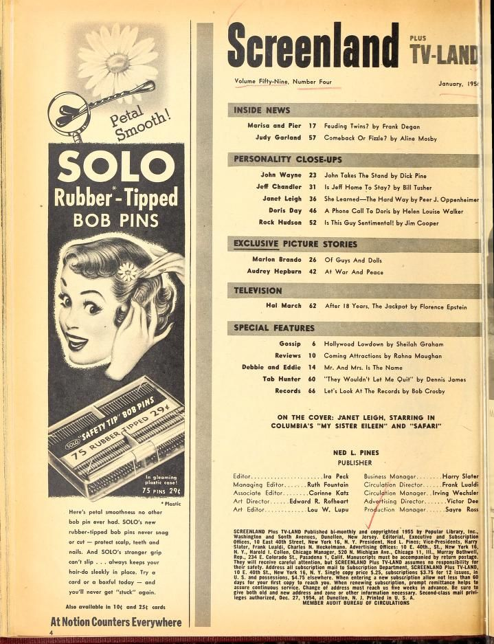 Screenland Plus TV-Land (Jul 1955-May 1957)