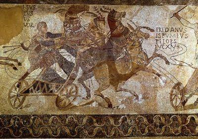 También se dice que las carreras de carros dieron origen a los Juegos Olímpicos, cuando el rey Enómao desafió a los pretendientes de su hija Hipodamía, pero fue derrotado por Pélope, quién fundó los juegos en honor a su victoria.  En los Juegos Olímpicos de la antigüedad y en los Parahelénicos, había carreras de carros con cuatro caballos y con dos caballos, pero está la duda si fueron fundadoras de los Juegos Olímpicos, ya que hay documentos que las carreras de carros son del 680 DC