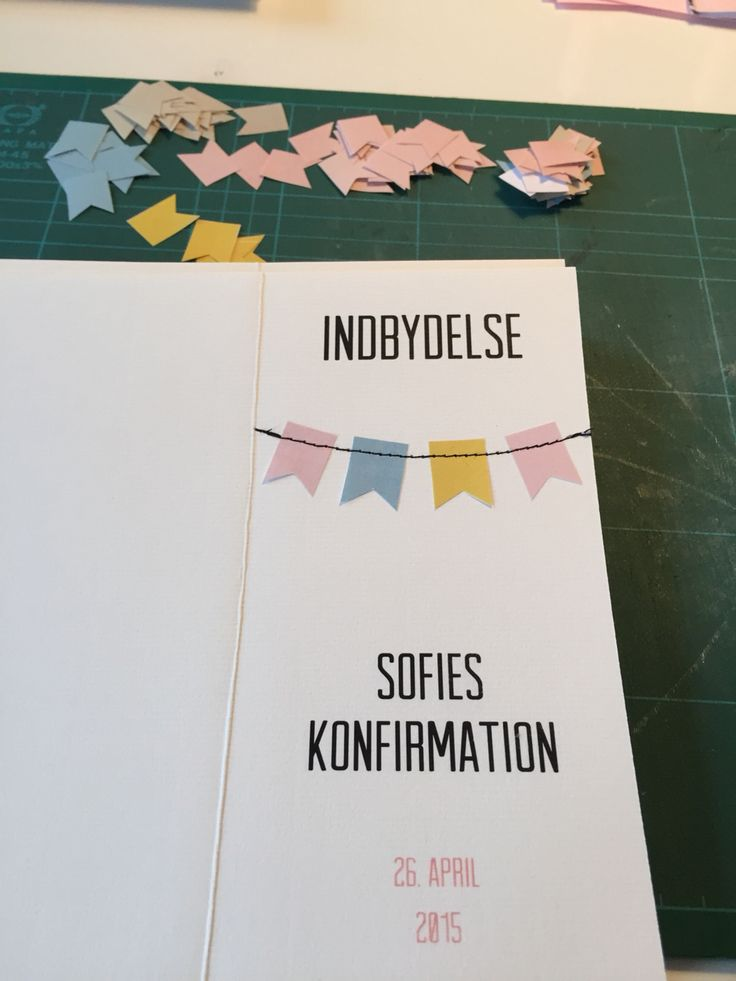 Invitation for Danish konfirmation.