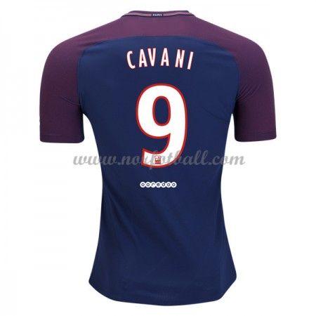Billige Fotballdrakter Paris Saint Germain Psg 2017-18 Edinson Cavani 9 Hjemmedrakt Kortermet