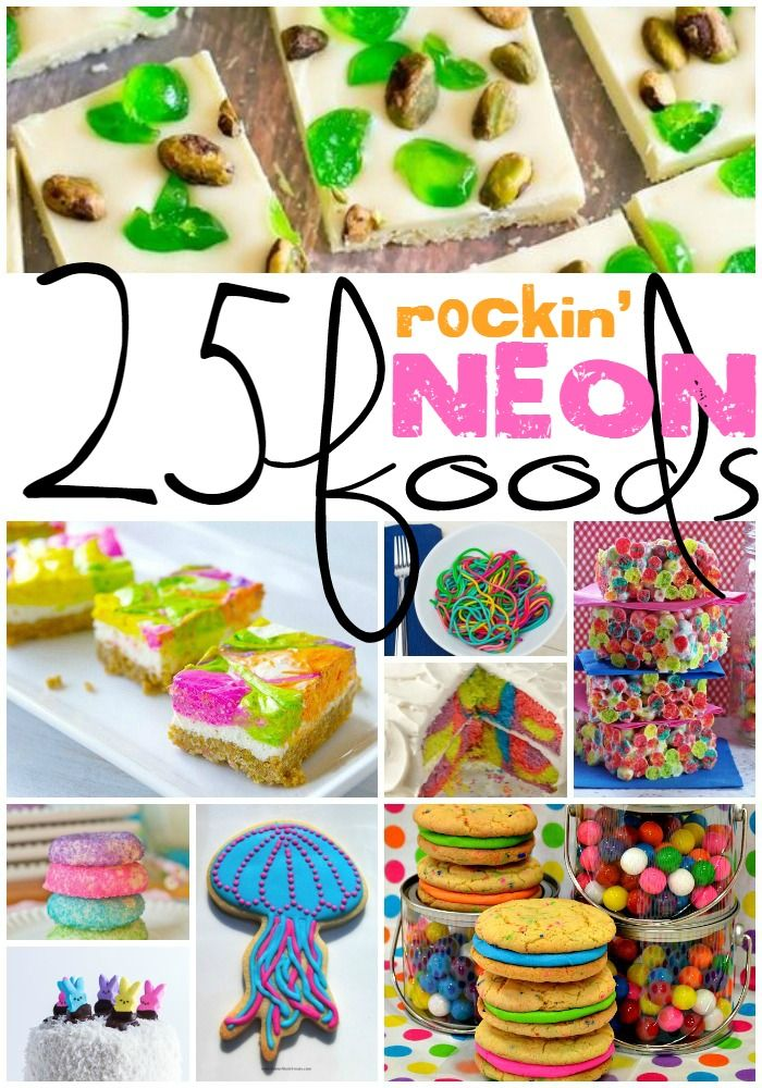 This could totally be the only way I make confections for the rest of my life. I love these 25 Rockin' Neon Food Ideas!